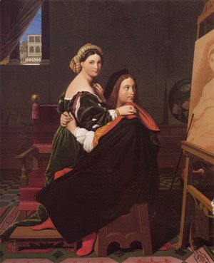 Jean Auguste Dominique Ingres - Raphael and the Fornarina