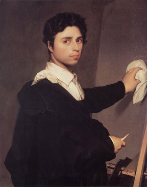 Jean Auguste Dominique Ingres - Copy after Ingres's 1804 Self-Portrait