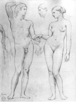 Jean Auguste Dominique Ingres - Study for The Golden Age