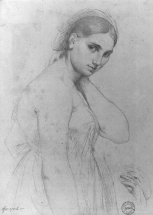 Jean Auguste Dominique Ingres - Study for Raphael and the Fornarina
