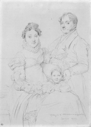 Jean Auguste Dominique Ingres - The Cosimo Andrea Lazzerini Family