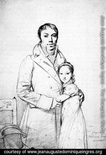 Jean Auguste Dominique Ingres - Charles Hayard and his daughter Marguerite