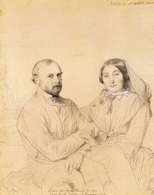 Jean Auguste Dominique Ingres - Edmond Ramel and his wife, born Irma Donbernard