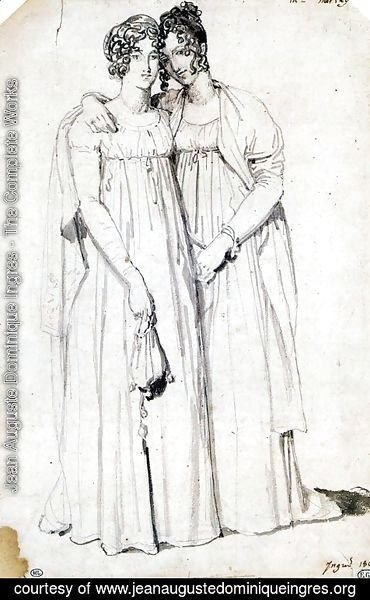 Jean Auguste Dominique Ingres - Henriette Harvey and her half sister Elizabeth Norton