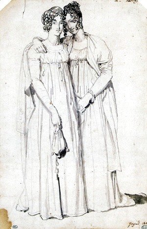 Henriette Harvey and her half sister Elizabeth Norton