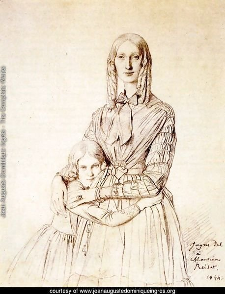 Madame Frederic Reiset, born Augustine Modest Hortense Reiset, and her daughter, Theres Hortense Marie