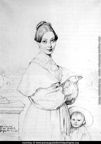 Madame Victor Baltard, born Adeline Lequeux, and her daughter, Paule