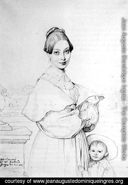 Jean Auguste Dominique Ingres - Madame Victor Baltard, born Adeline Lequeux, and her daughter, Paule