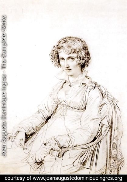 Jean Auguste Dominique Ingres - Mrs Charles Thomas Thruston, born Frances Edwards
