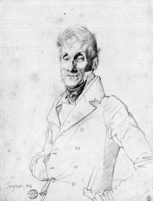Jean Auguste Dominique Ingres - Portrait of a Man, possible Edmé Bochet
