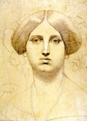 Jean Auguste Dominique Ingres - Study of Baronne James de Rothschild, born Betty von Rothschild