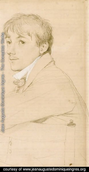 Jean Auguste Dominique Ingres - Jean-Louis Provost, seated and resting his left arm on the back of a chair