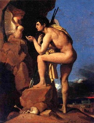 Jean Auguste Dominique Ingres - Oedipus and the Sphinx 2