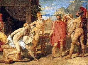 Jean Auguste Dominique Ingres - Achilles Receiving the Envoys of Agamemnon