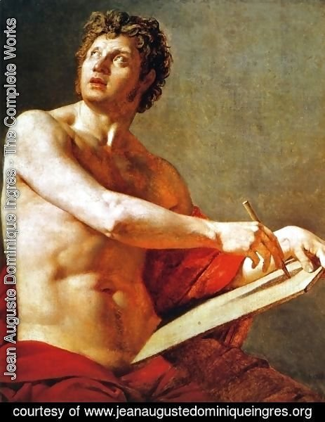 Jean Auguste Dominique Ingres - Academic Study of a Male Torse