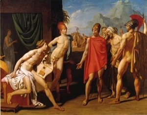 Jean Auguste Dominique Ingres - Achilles Receiving the Envoys of Agamemnon I