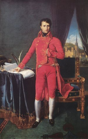 Jean Auguste Dominique Ingres - Napoleon Bonaparte in the Uniform of the First Consul