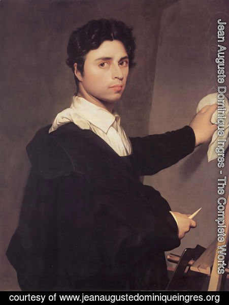 Jean Auguste Dominique Ingres - Self Portrait at the Easel