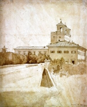View of the Villa Medici