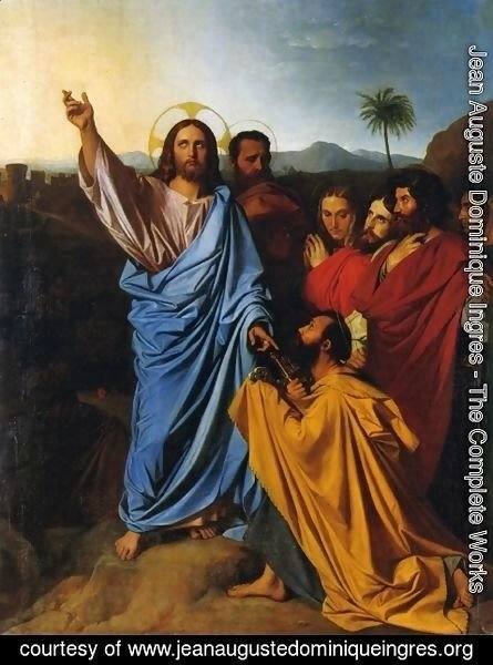 Jean Auguste Dominique Ingres - Christ Giving Peter the Keys of Paradise