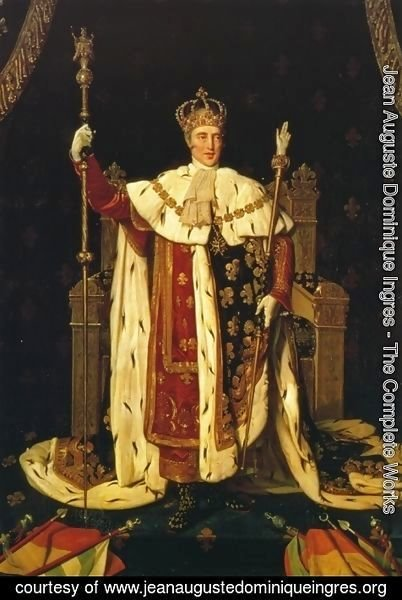 Jean Auguste Dominique Ingres - Charles X inn his Coronation Robes