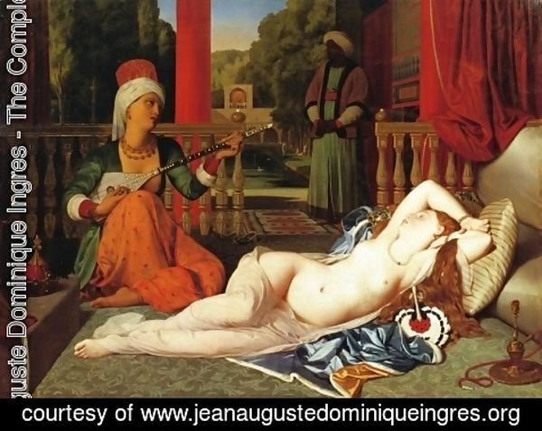 Jean Auguste Dominique Ingres - Odalisque with Female Slave I