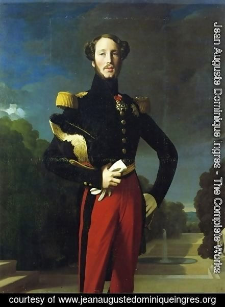 Jean Auguste Dominique Ingres - Duke Ferdinand-Philippe of Orleans I