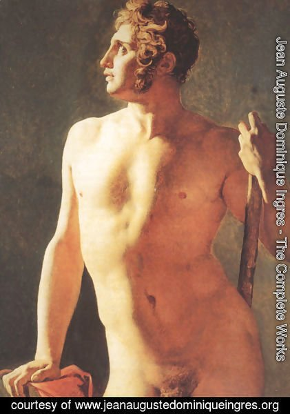 Jean Auguste Dominique Ingres - Male Torso