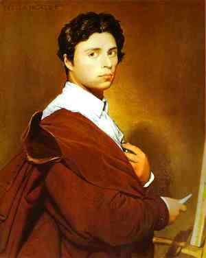 Jean Auguste Dominique Ingres - Self-Portrait at the Age of 24