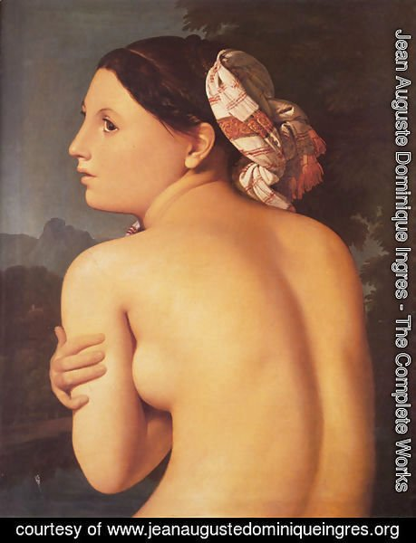 Jean Auguste Dominique Ingres - Half-figure of a Bather