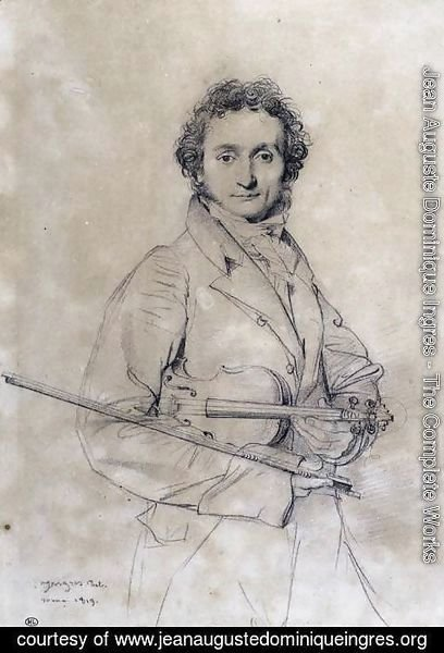 Jean Auguste Dominique Ingres - The Violinist Niccolò Paganini