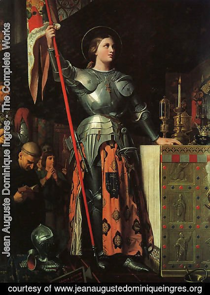 Jean Auguste Dominique Ingres - Joan of Arc at the Coronation of Charles VII