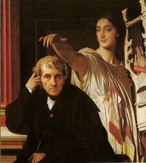 Jean Auguste Dominique Ingres - Luigi Cherubini and the muse of poetry