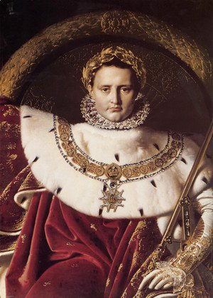 Jean Auguste Dominique Ingres - Napoleon I on His Imperial Throne (Detail)