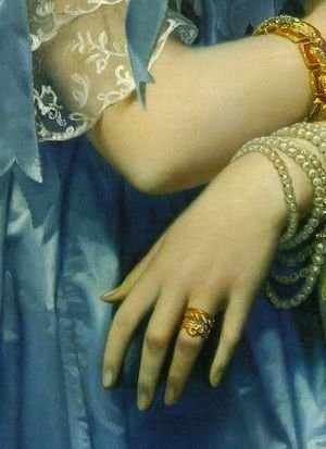 Jean Auguste Dominique Ingres - Princesse Albert de Broglie [detail ]