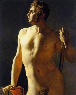 Jean Auguste Dominique Ingres - Study of a Male Nude 2