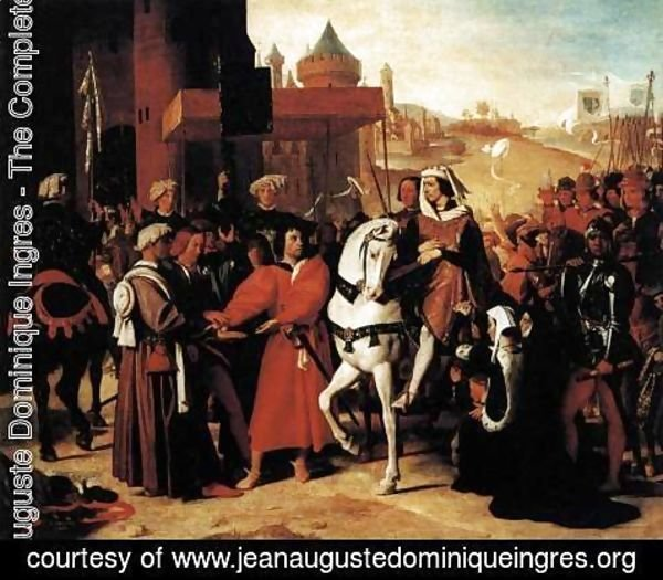 Jean Auguste Dominique Ingres - The Entry of the Future Charles V into Paris in 1358 2