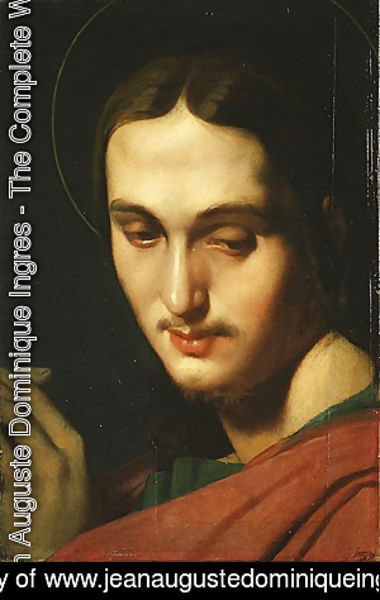 Jean Auguste Dominique Ingres - Head of Saint John the Evangelist 1818
