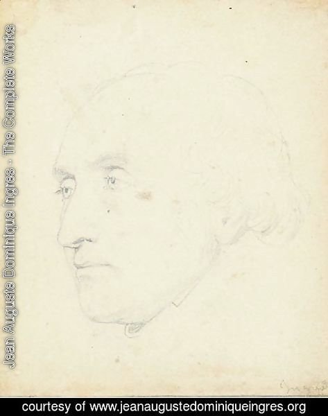 Head of a man turned to the left, said to be Jean-Baptiste Lepere (1761-1844)
