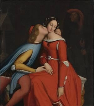 Jean Auguste Dominique Ingres - Paolo And Francesca 3