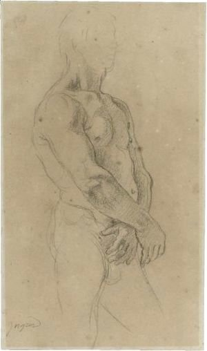 Study Of A Standing Male Nude, Turned Towards The Right