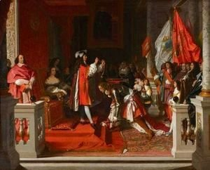 Jean Auguste Dominique Ingres - King Philip V of Spain Making Marshal James Fitzjames, Duke of Berwick a Cavalier of the Golden Fleece after the Battle of Almansa