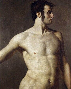 Jean Auguste Dominique Ingres - Male torso 2