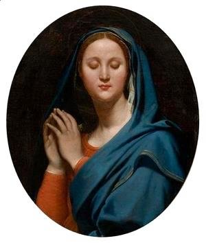 Jean Auguste Dominique Ingres - The Virgin of the Blue Veil