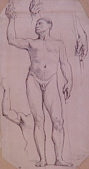 Jean Auguste Dominique Ingres - Study naked for St. Remy