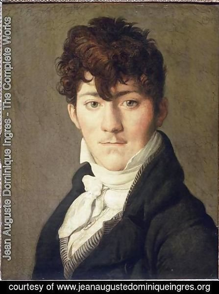 Jean Auguste Dominique Ingres - Portrait of Auguste Francois Talma, Ensign, nephew of the tragedian Talma