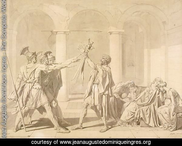 The Oath of the Horatii, according to David