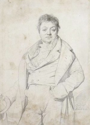 Portrait of the painter Charles Thevenin, director of the Academy of France in Rome