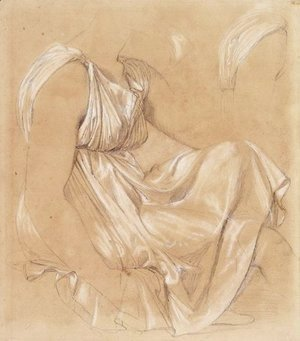 Jean Auguste Dominique Ingres - Study of seated woman