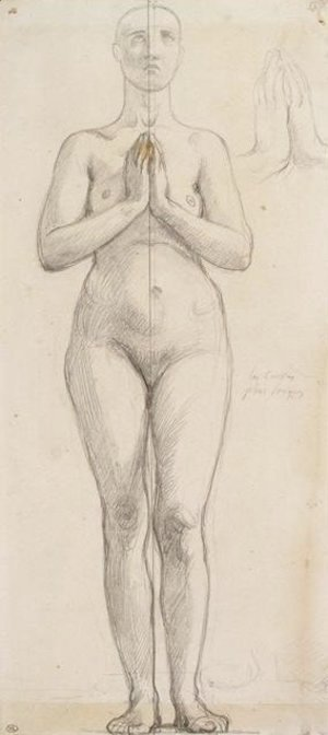 Jean Auguste Dominique Ingres - Study of the naked holy Isabella of France